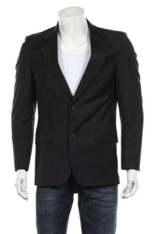 Мъжко сако Zara Man, Размер L, Цвят Черен, 88% вълна, 8% полиамид, 4% еластан, Цена 28,80лв.