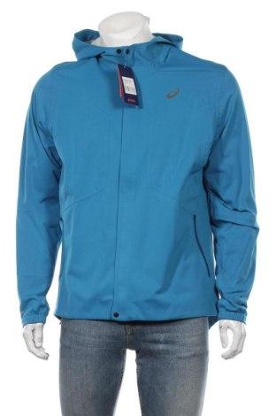 Мъжко спортно яке ASICS, Размер XL, Цвят Син, Полиестер, Цена 79,57лв.