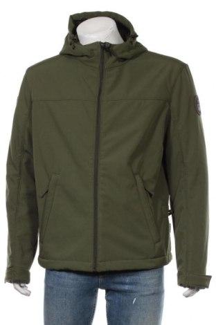 Мъжко спортно яке Napapijri, Размер L, Цвят Зелен, 92% полиестер, 8% еластан, Цена 180,95лв.