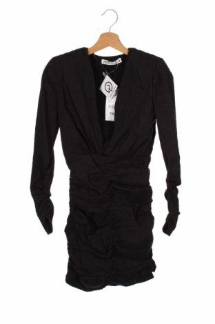Φόρεμα Zara, Μέγεθος XS, Χρώμα Μαύρο, 84% λινό, 13% πολυαμίδη, 3% ελαστάνη, Τιμή 21,34€