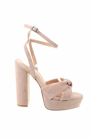 Sandale Even&Odd, Mărime 36, Culoare Roz, Velur natural, Preț 268,91 Lei