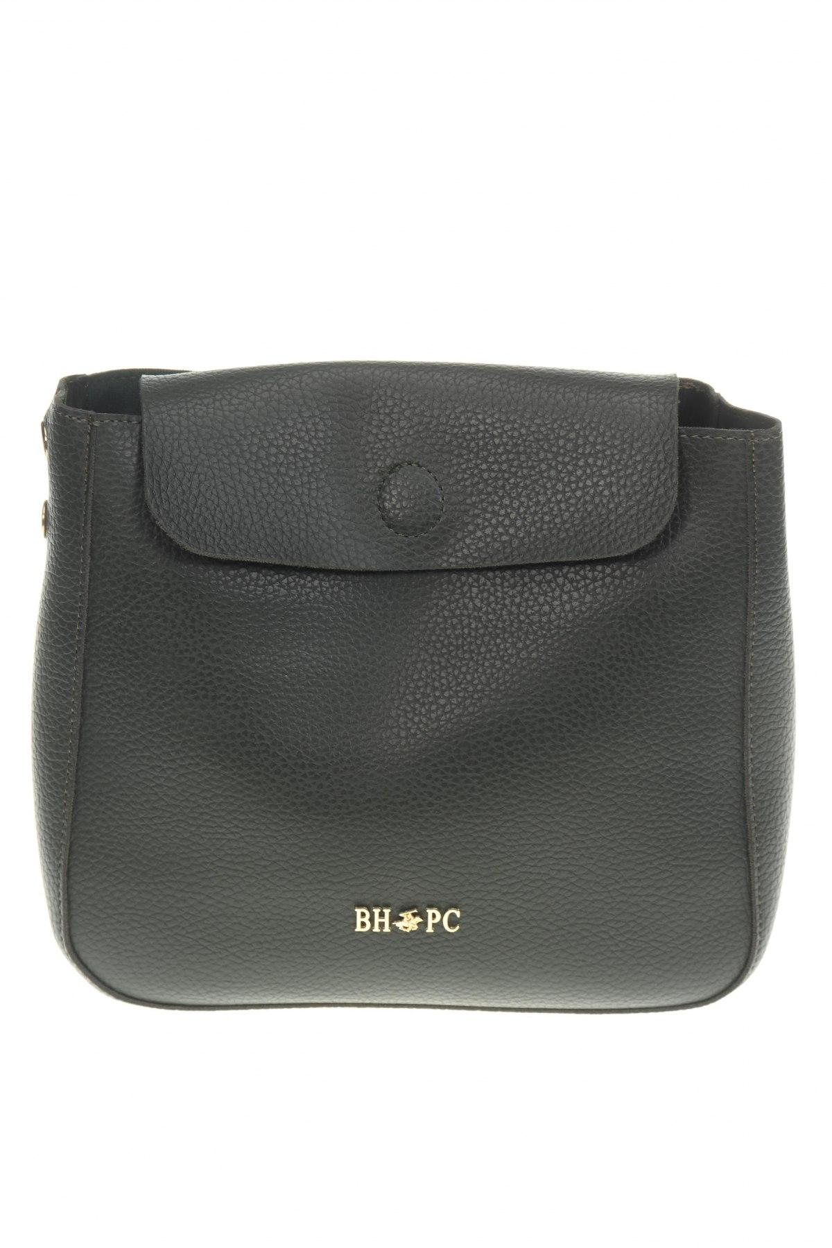 Дамска чанта Beverly Hills Polo Club, Цвят Зелен, Еко кожа, Цена 44,25лв.
