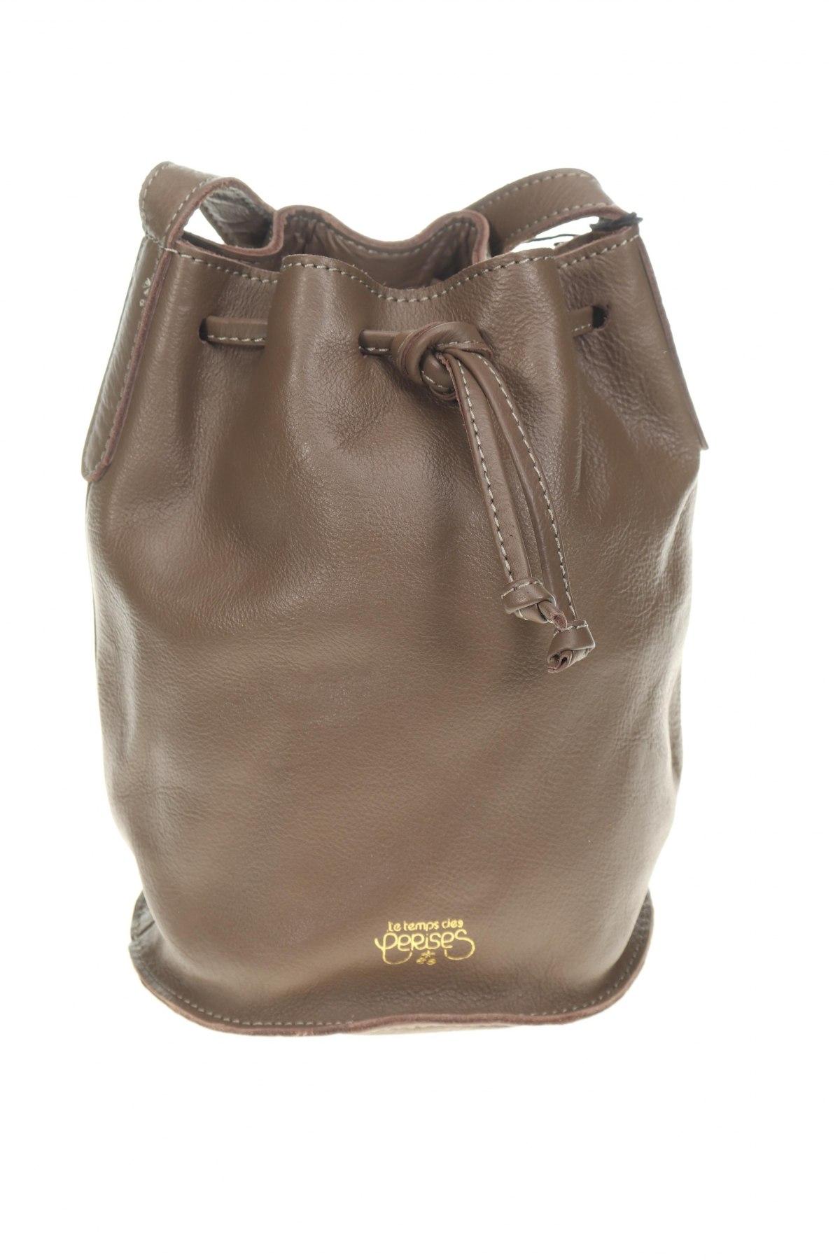 Дамска чанта Le Temps Des Cerises, Цвят Кафяв, Естествена кожа, Цена 132,30лв.