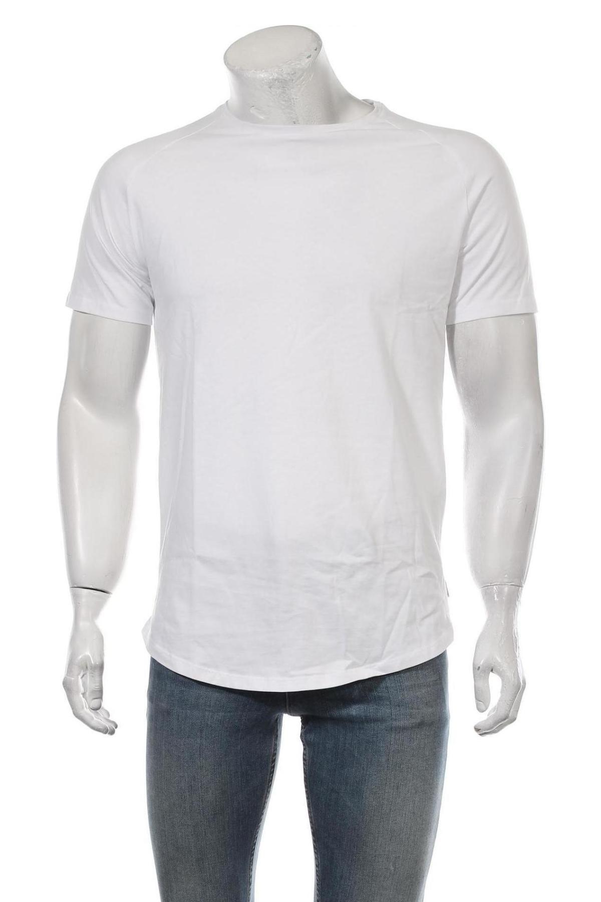 Мъжка тениска Jack & Jones, Размер M, Цвят Бял, Памук, Цена 15,12лв.