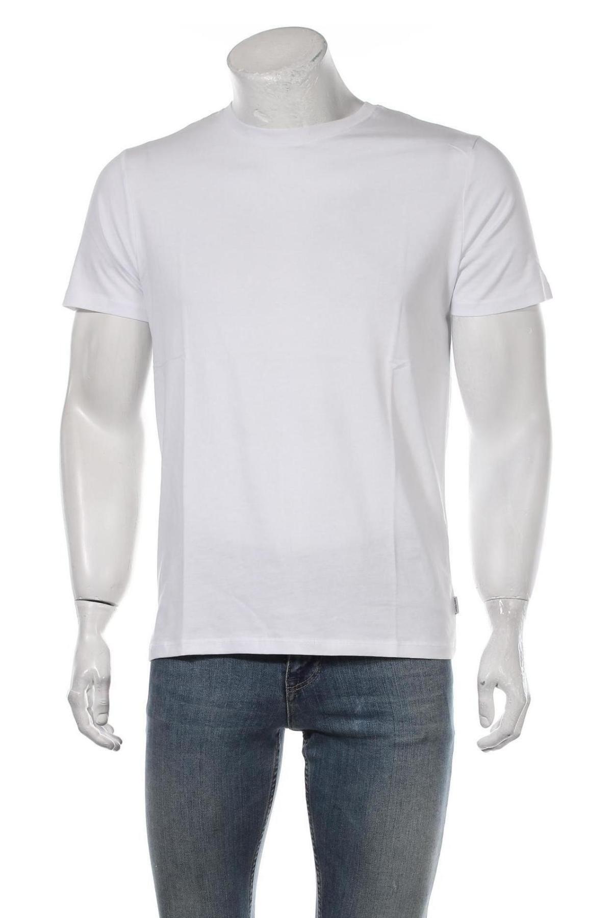 Мъжка тениска Jack & Jones, Размер M, Цвят Бял, Памук, Цена 20,88лв.