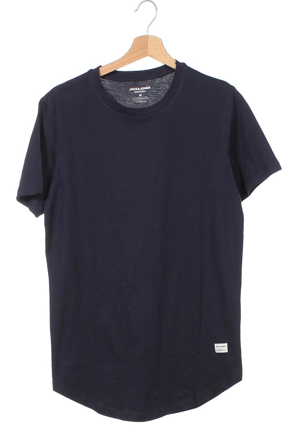 Мъжка тениска Jack & Jones, Размер XS, Цвят Син, Памук, Цена 22,62лв.