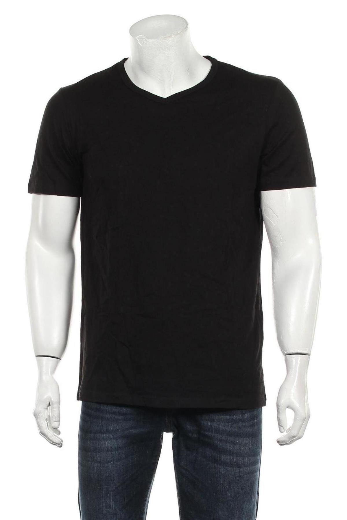 Мъжка тениска Jack & Jones, Размер L, Цвят Черен, Памук, Цена 20,88лв.