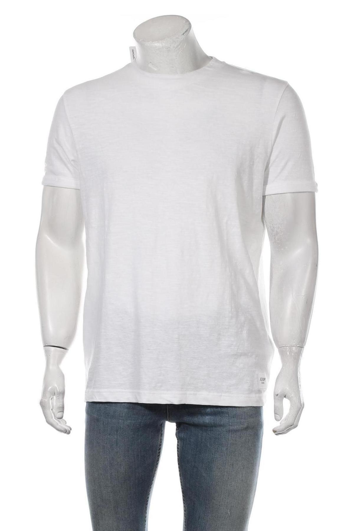 Мъжка тениска Joop!, Размер L, Цвят Бял, 75% памук, 25% лен, Цена 66,78лв.
