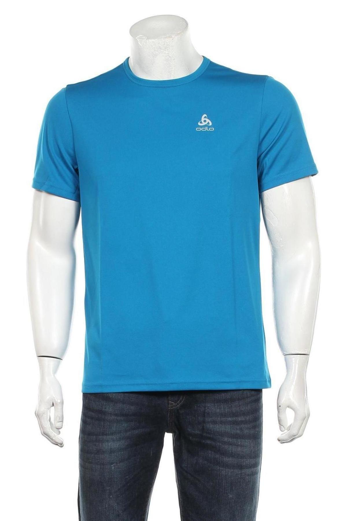 Мъжка тениска Odlo, Размер M, Цвят Син, Полиестер, Цена 31,27лв.