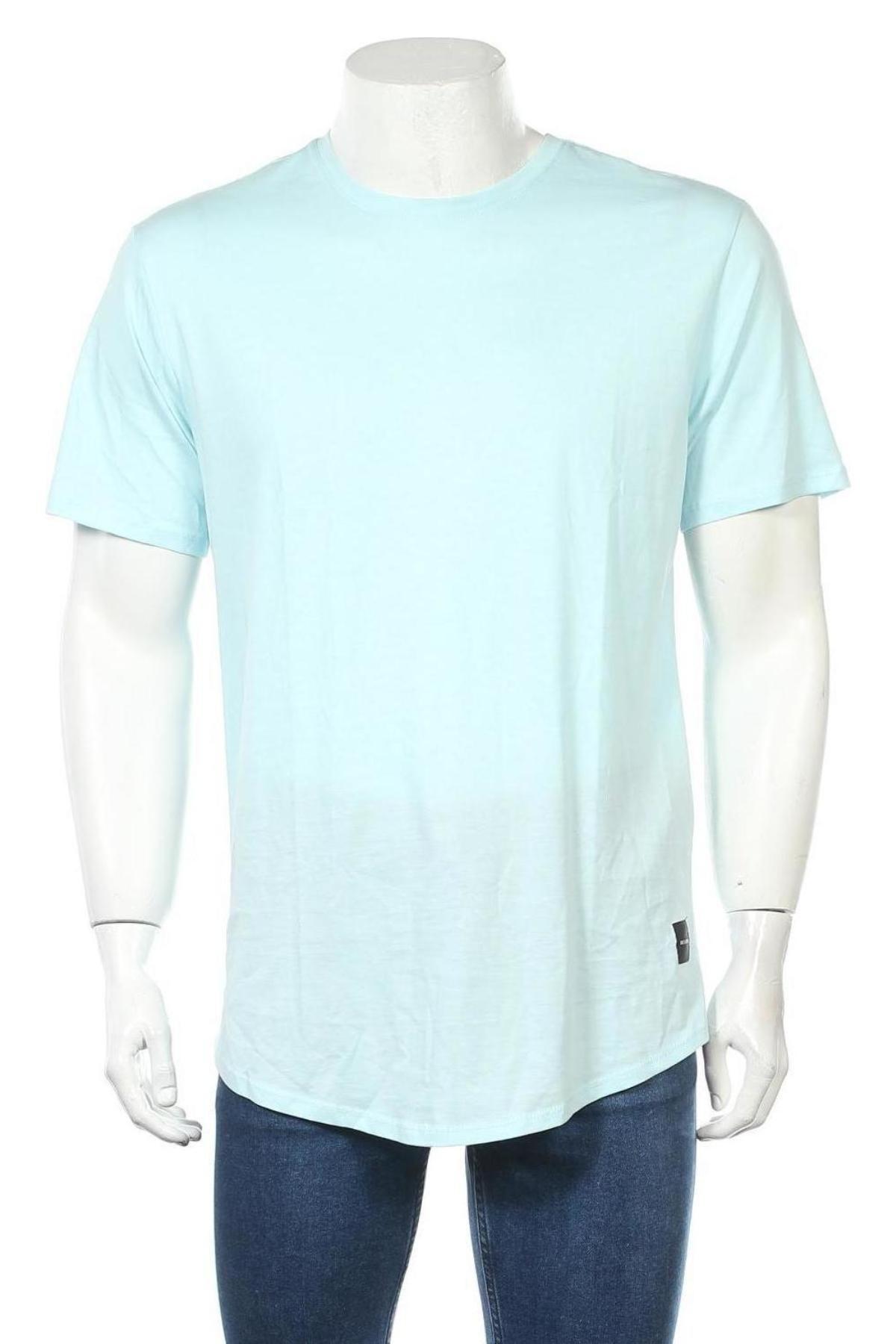 Мъжка тениска Only & Sons, Размер L, Цвят Син, Памук, Цена 16,82лв.