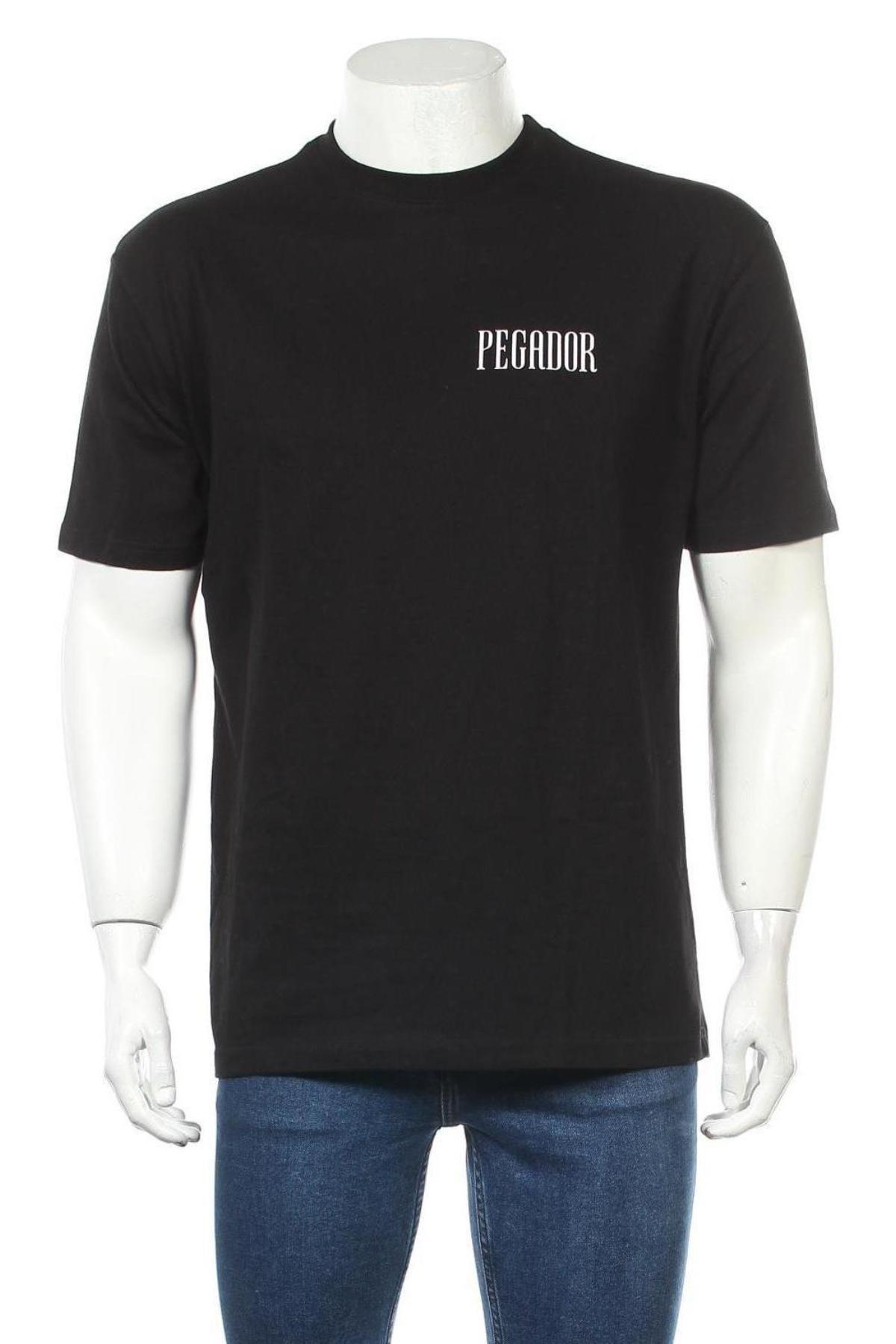 Мъжка тениска Pegador, Размер S, Цвят Черен, Памук, Цена 28,42лв.