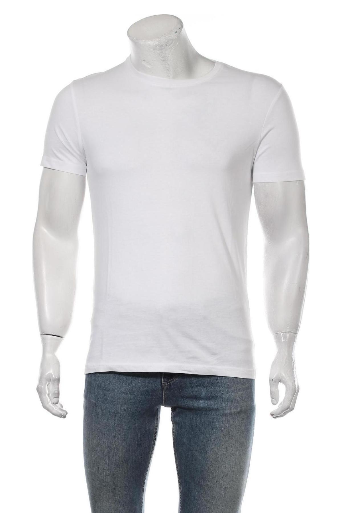 Мъжка тениска Pier One, Размер S, Цвят Бял, Памук, Цена 15,95лв.