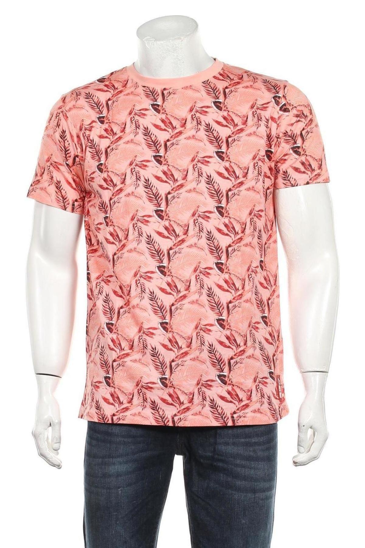 Мъжка тениска RG 512, Размер L, Цвят Многоцветен, Памук, Цена 17,40лв.