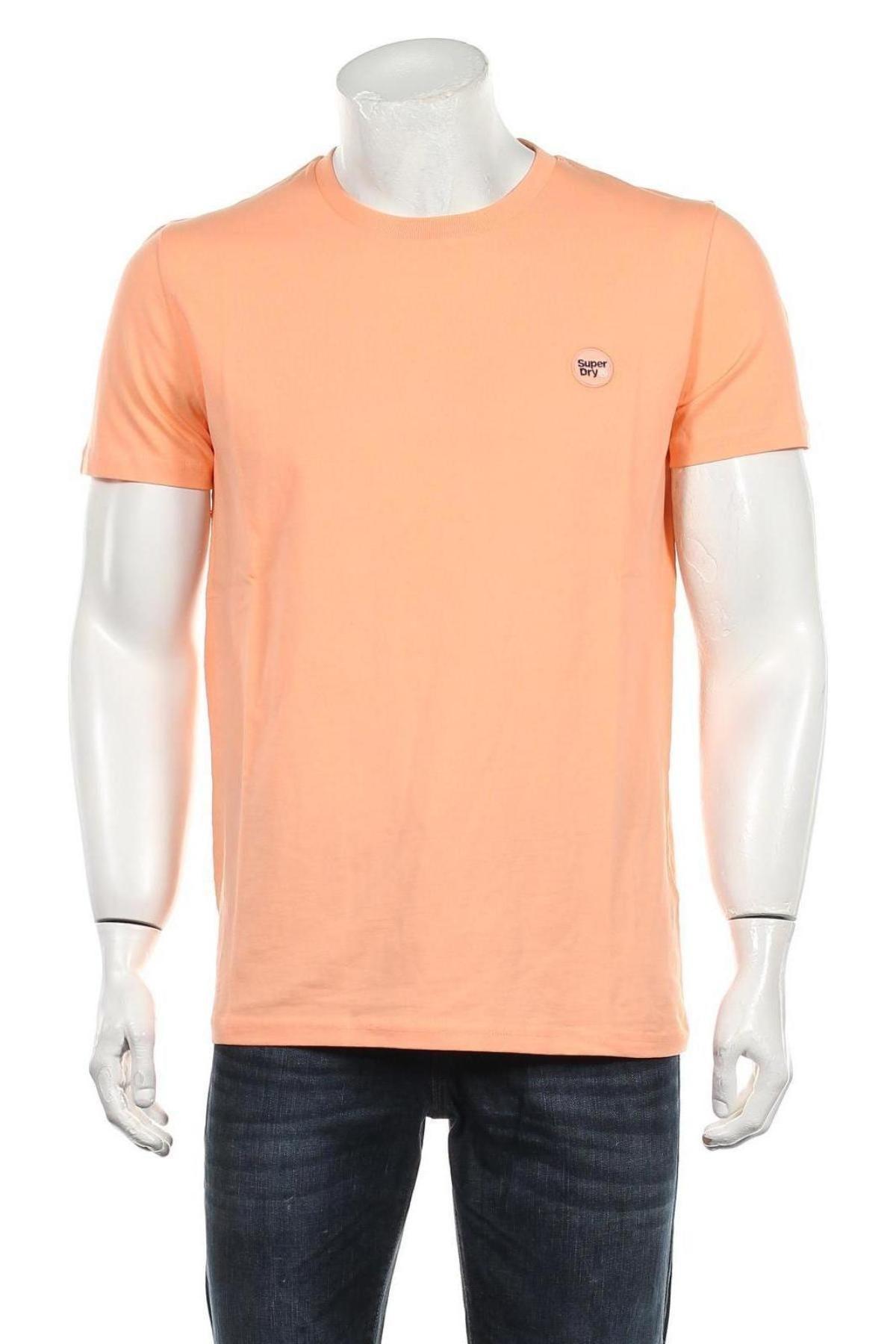 Мъжка тениска Superdry, Размер L, Цвят Оранжев, Памук, Цена 37,95лв.