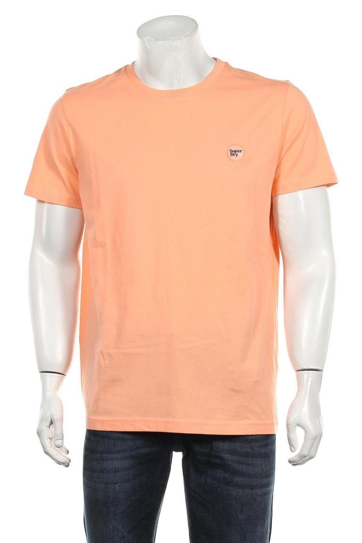 Мъжка тениска Superdry, Размер XL, Цвят Оранжев, Памук, Цена 37,95лв.