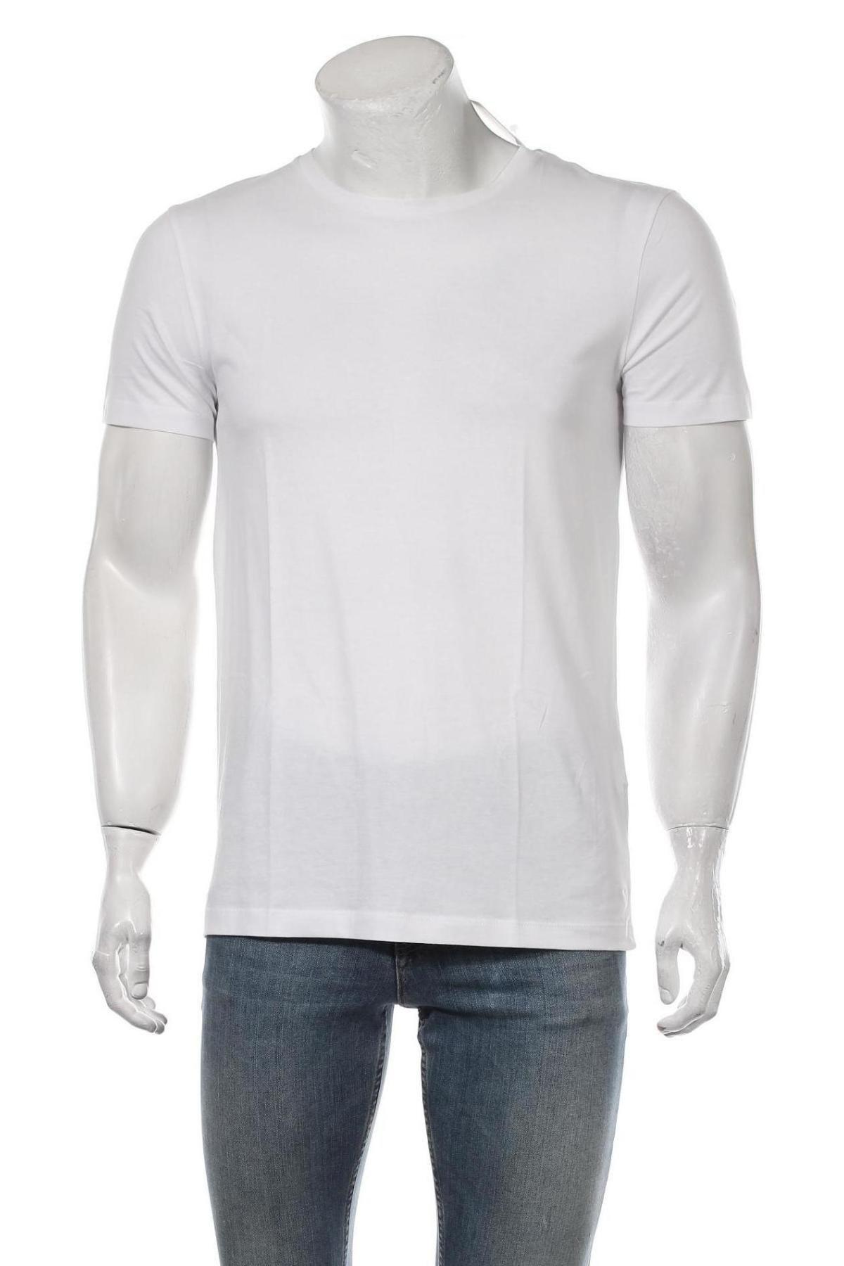 Мъжка тениска Tom Tailor, Размер M, Цвят Бял, Памук, Цена 20,88лв.