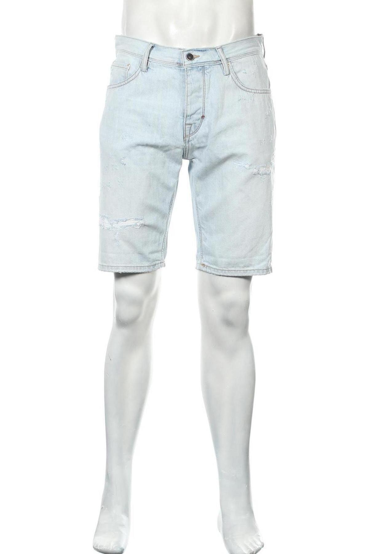 Мъжки къс панталон Antony Morato, Размер M, Цвят Син, Памук, Цена 54,45лв.