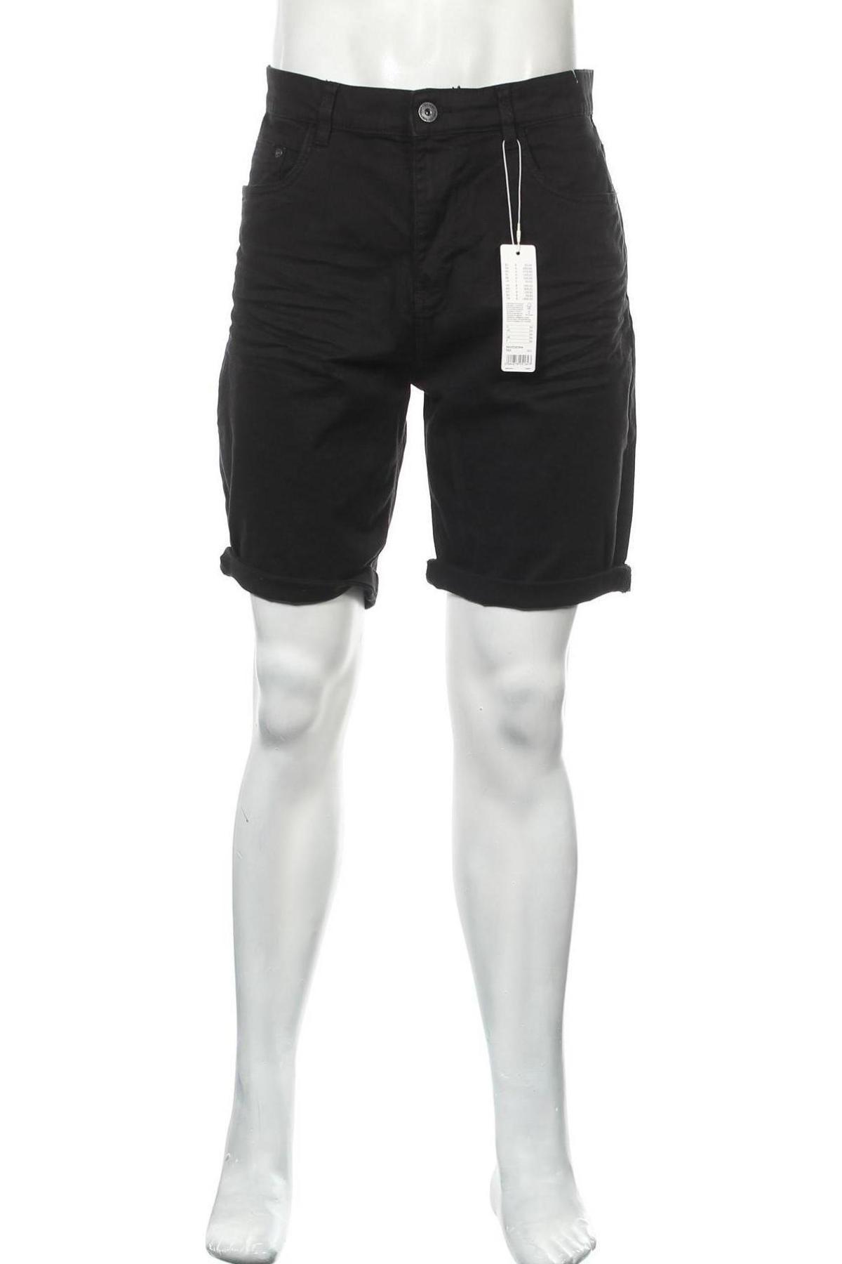 Мъжки къс панталон Edc By Esprit, Размер L, Цвят Черен, 98% памук, 2% еластан, Цена 37,95лв.
