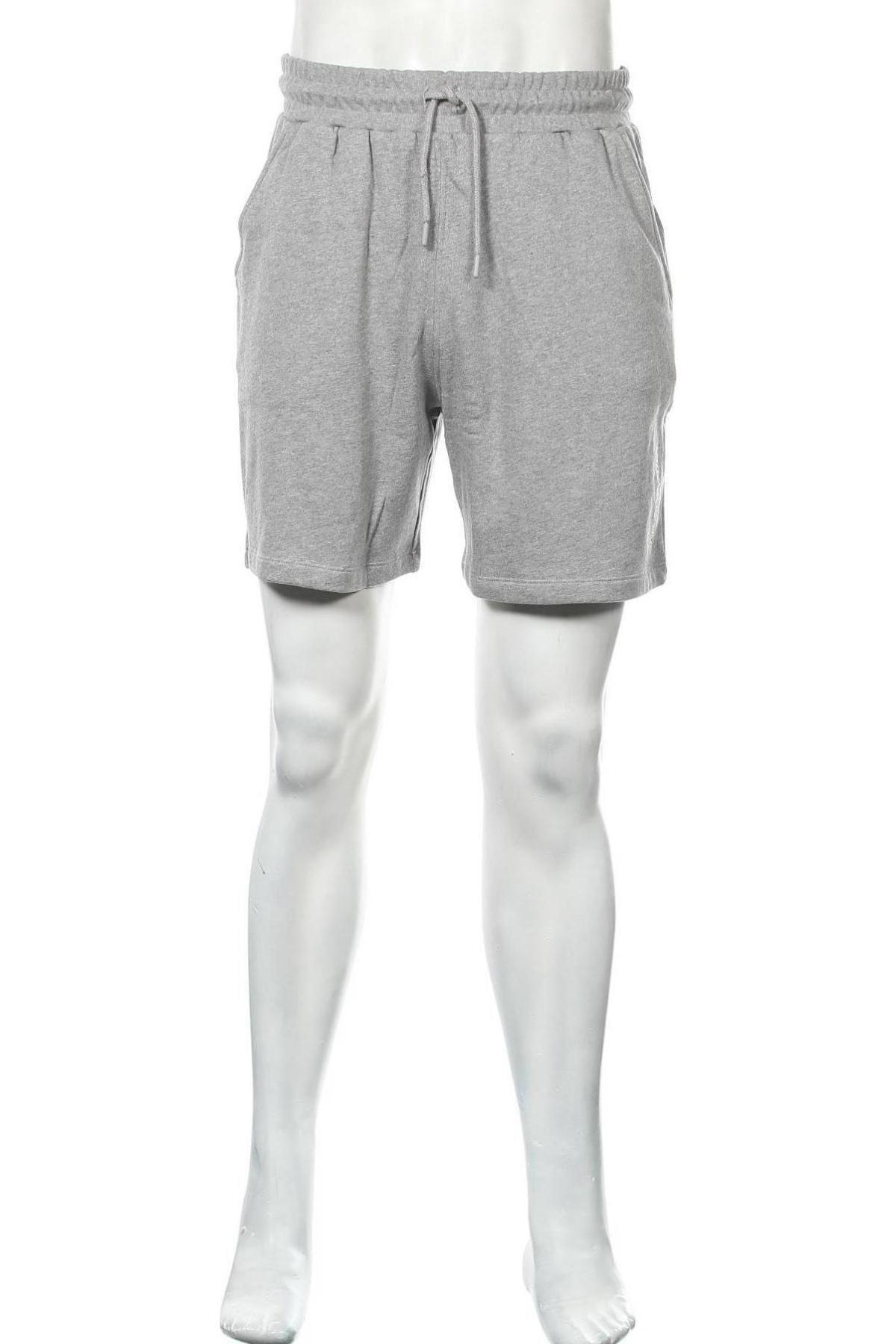 Мъжки къс панталон NU-IN, Размер S, Цвят Сив, Памук, Цена 32,45лв.