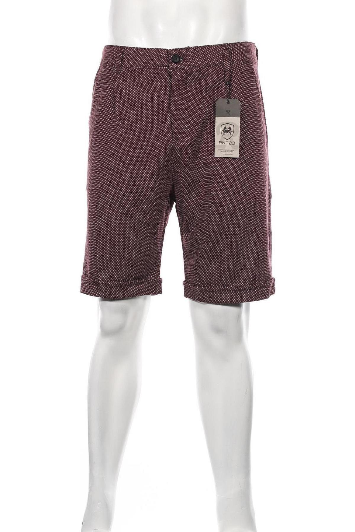 Мъжки къс панталон RNT23 Jeans, Размер M, Цвят Червен, 75% полиестер, 20% вискоза, 5% еластан, Цена 41,40лв.