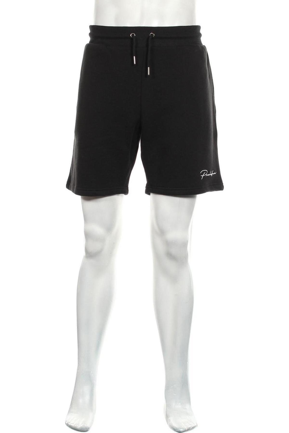 Мъжки къс панталон River Island, Размер L, Цвят Черен, 67% памук, 33% полиестер, Цена 39,60лв.