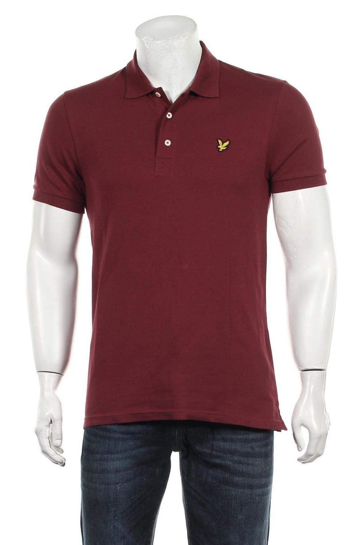Мъжка тениска Lyle & Scott, Размер M, Цвят Червен, 98% памук, 2% еластан, Цена 37,95лв.