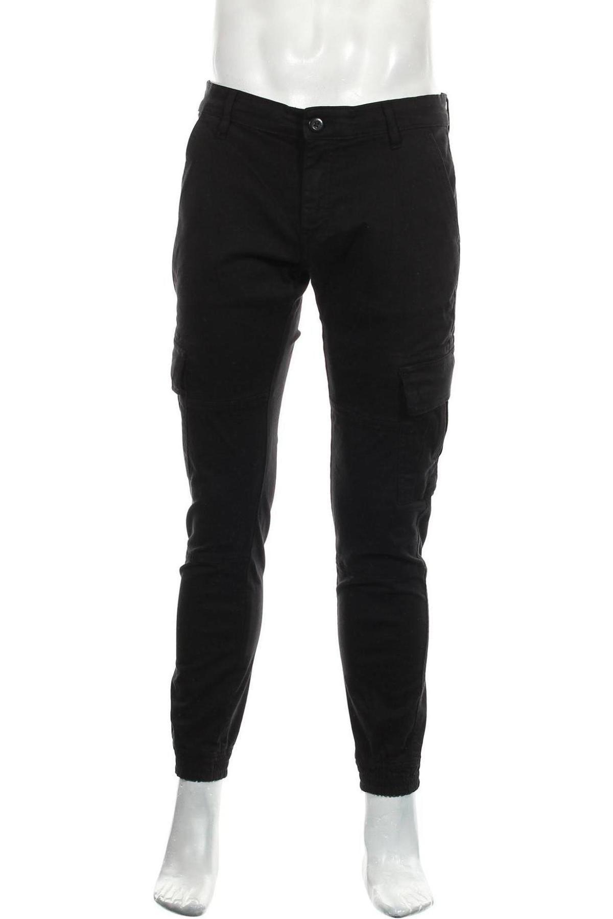 Мъжки панталон Urban Classics, Размер M, Цвят Черен, 98% памук, 2% еластан, Цена 32,68лв.