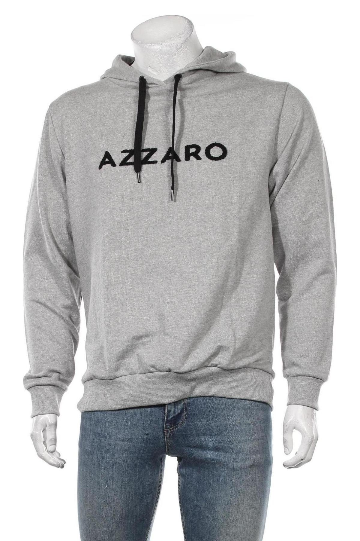 Мъжки суичър Azzaro, Размер L, Цвят Сив, Памук, Цена 94,50лв.