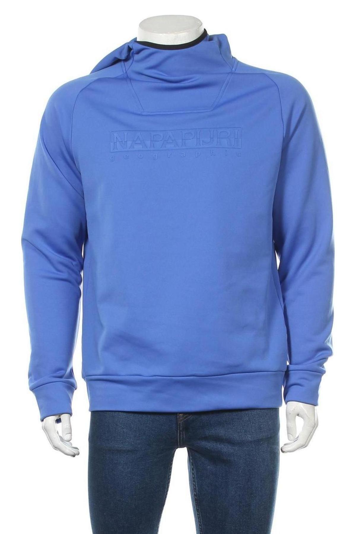 Мъжки суичър Napapijri, Размер L, Цвят Син, 96% полиестер, 4% еластан, Цена 92,95лв.