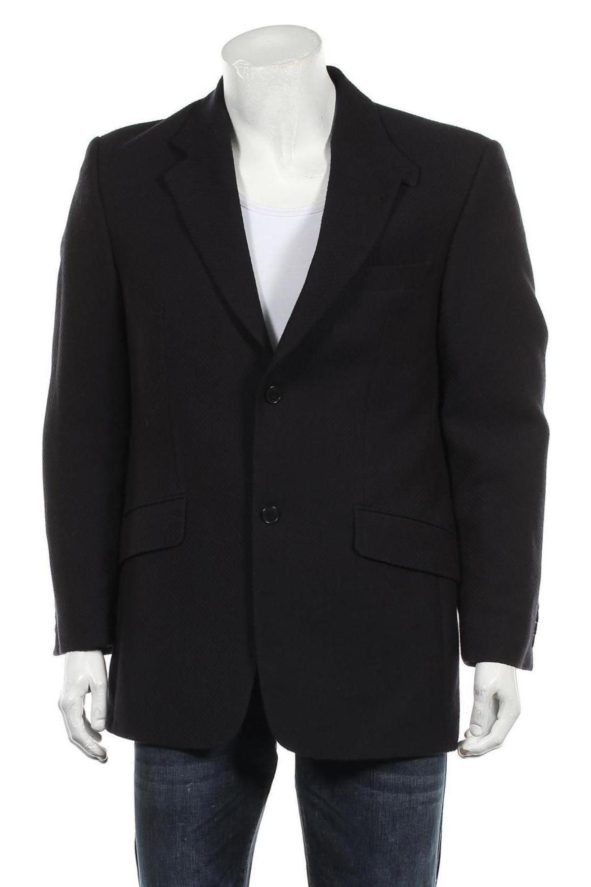 Мъжко сако Pierre Laffitte, Размер L, Цвят Син, Вискоза, Цена 24,99лв.