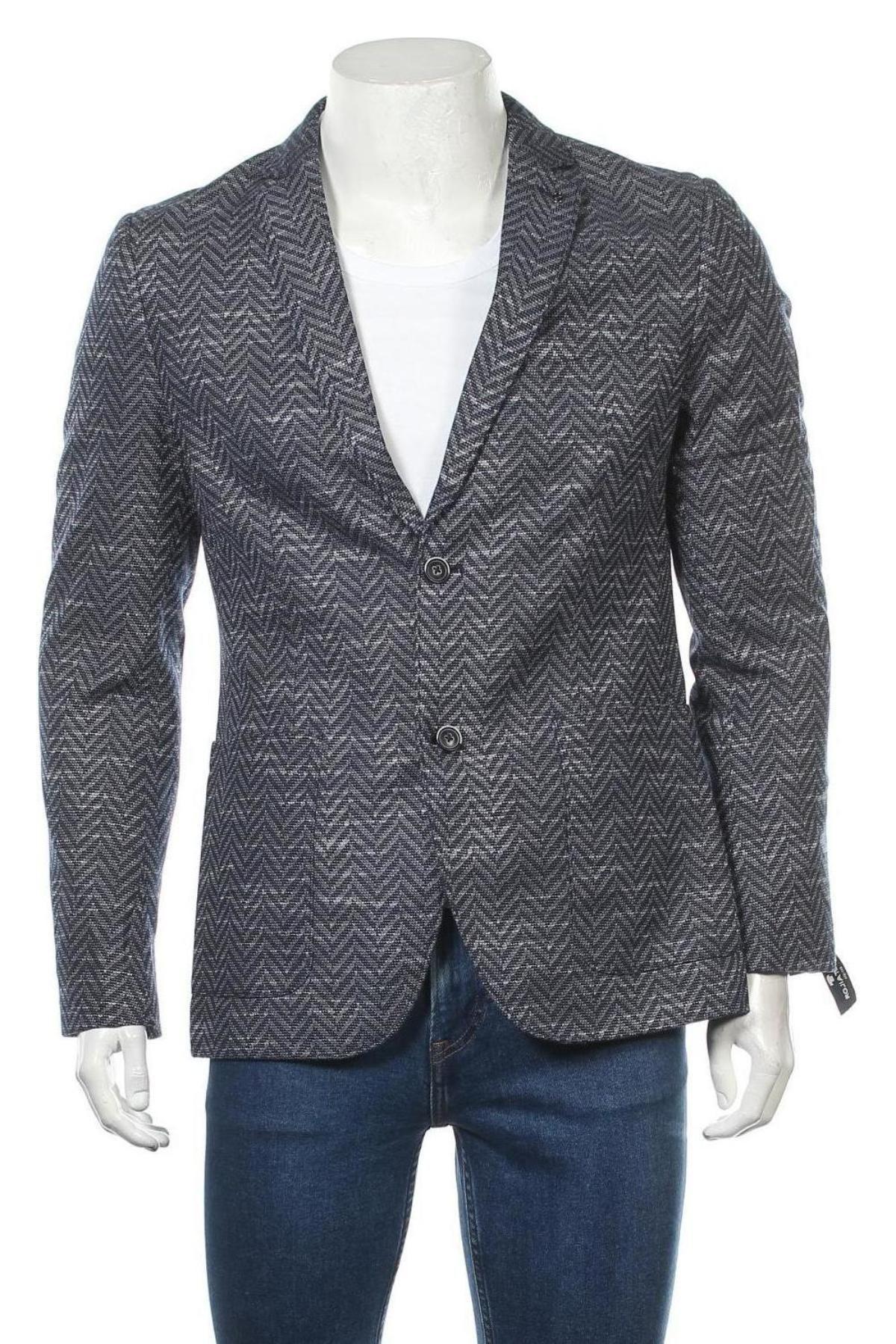Мъжко сако Tom Tailor, Размер L, Цвят Син, 90% полиестер, 10% памук, Цена 68,37лв.