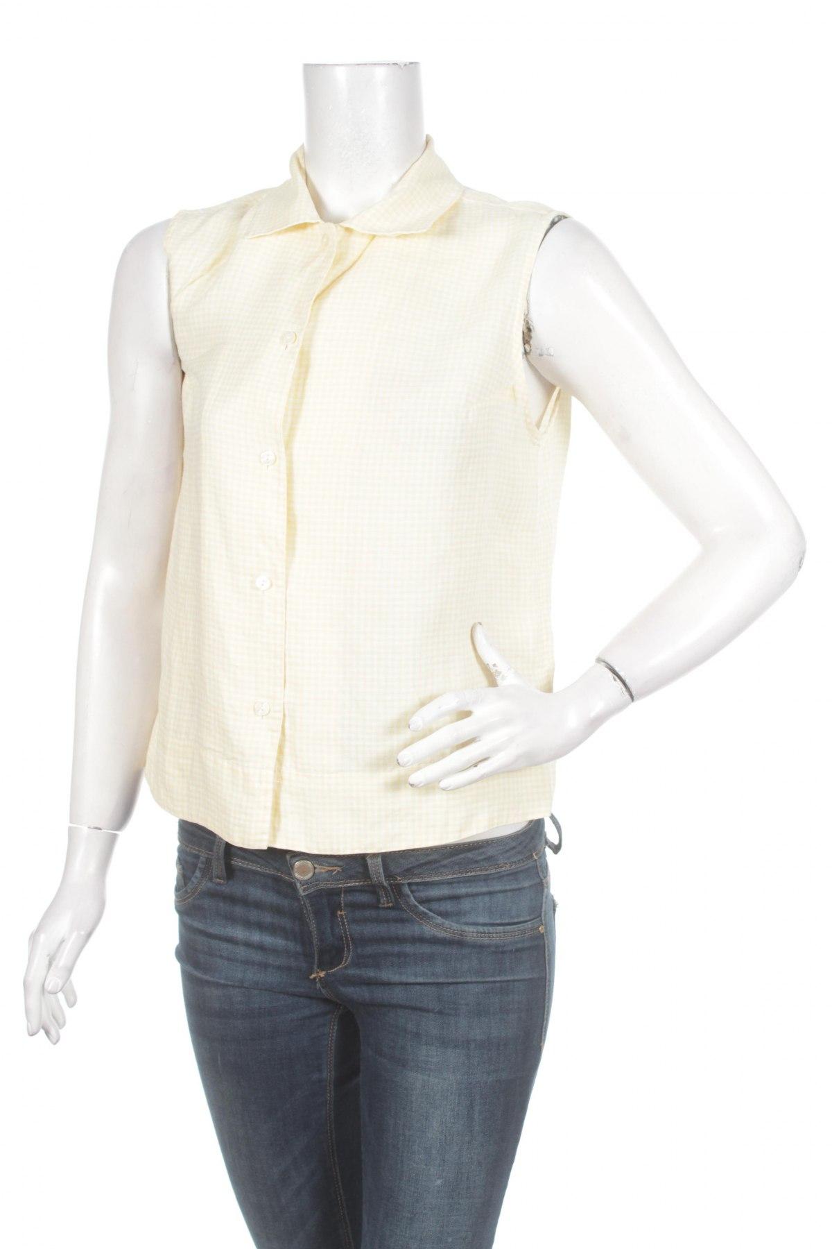 Γυναικείο πουκάμισο Marco Pecci, Μέγεθος L, Χρώμα Κίτρινο, Τιμή 11,13€