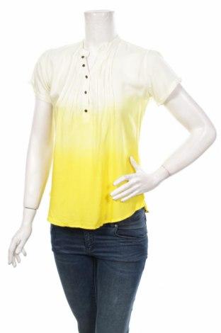 Дамска блуза Moodo, Размер XS, Цвят Жълт, 100% вискоза, Цена 5,52лв.