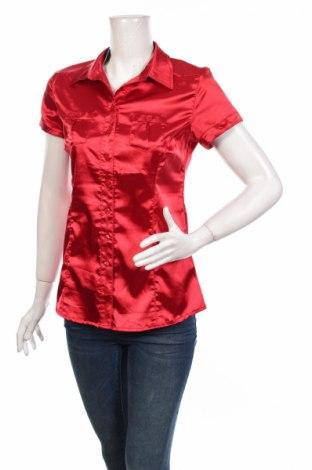 Дамска риза Moodo, Размер M, Цвят Червен, Полиестер, Цена 23,32лв.