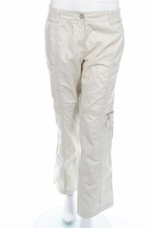 Дамски панталон Zabaione, Размер L, Цвят Бежов, Памук, Цена 10,81лв.