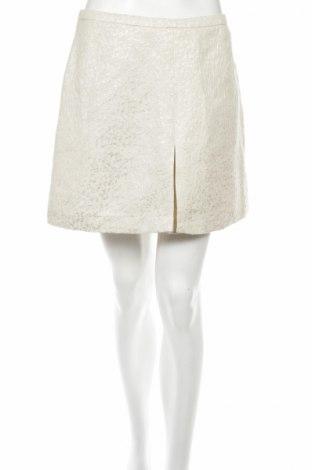 Пола H&M, Размер M, Цвят Бежов, 44% памук, 38% полиестер, 14% метални нишки, 4% еластан, Цена 6,50лв.