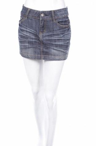 Φούστα Miss Anna, Μέγεθος M, Χρώμα Μπλέ, 80% βαμβάκι, 16% πολυεστέρας, 4% ελαστάνη, Τιμή 4,93€