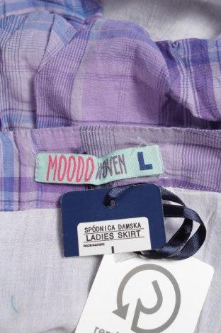 Φούστα Moodo, Μέγεθος L, Χρώμα Βιολετί, Βαμβάκι, Τιμή 4,27€
