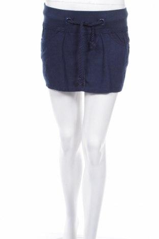 Φούστα Moodo, Μέγεθος S, Χρώμα Μπλέ, 50% λινό, 35% βισκόζη, 15% βαμβάκι, Τιμή 4,27€