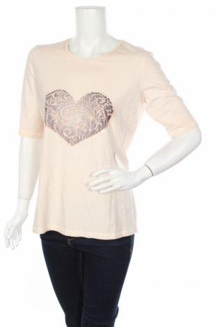 Дамска блуза Va Milano, Размер XL, Цвят Розов, 95% памук, 5% еластан, Цена 25,52лв.