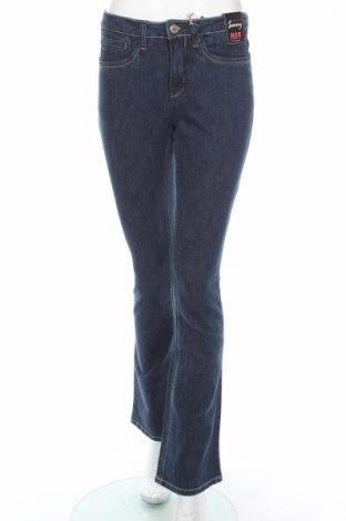 Дамски дънки H.i.s, Размер XS, Цвят Син, 98% памук, 2% еластан, Цена 21,62лв.