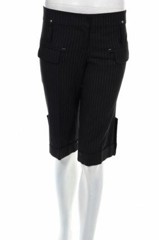 Γυναικείο κοντό παντελόνι Atos Lombardini, Μέγεθος L, Χρώμα Μαύρο, 68% βισκόζη, 28% μαλλί, 2% ελαστάνη, 2% πολυεστέρας, Τιμή 6,37€