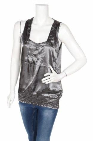 Γυναικείο αμάνικο μπλουζάκι Znk, Μέγεθος S, Χρώμα Γκρί, Πολυεστέρας, Τιμή 3,57€