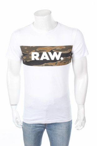 Tricou de bărbați G-Star Raw, Mărime XS, Culoare Alb, Bumbac, Preț 98,89 Lei