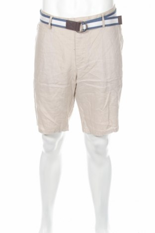 Pánske kraťasy  Christian Berg, Veľkosť XL, Farba Béžová, 100% ľan, Cena  19,77€