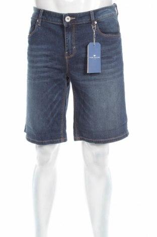 Ανδρικό κοντό παντελόνι Tom Tailor, Μέγεθος L, Χρώμα Μπλέ, 98% βαμβάκι, 2% ελαστάνη, Τιμή 17,64€
