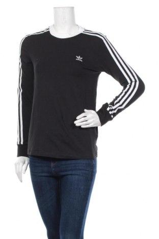 Дамска блуза Adidas Originals, Размер XS, Цвят Черен, 92% памук, 8% еластан, Цена 36,12лв.