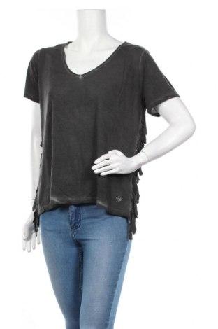 Γυναικεία μπλούζα DDP, Μέγεθος M, Χρώμα Γκρί, Βισκόζη, Τιμή 9,37€