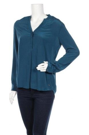 Дамска блуза Tommy Hilfiger, Размер M, Цвят Син, Коприна, Цена 55,10лв.