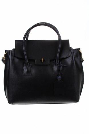 Дамска чанта Luisa Vannini, Цвят Черен, Естествена кожа, Цена 216,75лв.